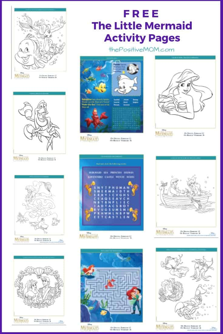 The Little Mermaid Free Printable Coloring Pages And