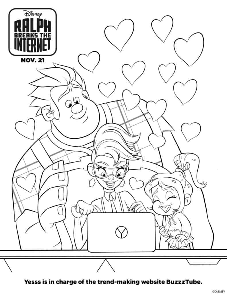 Ralph Breaks The Internet Free Printable Activity Sheets