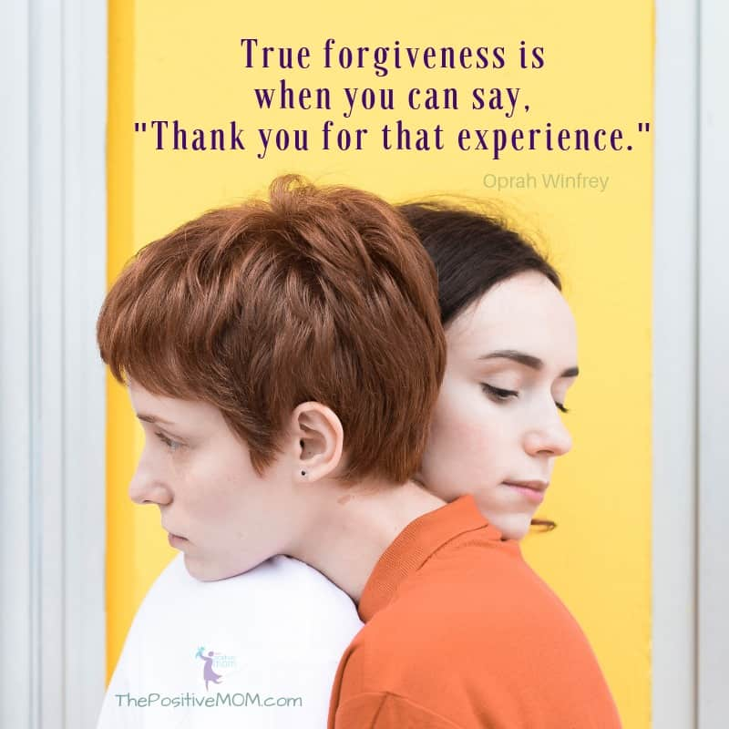 """True forgivenessis when you can say, """"Thank you for that experience."""" ~ Oprah Winfrey"""