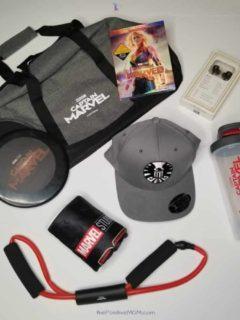 Captain Marvel Fitness Kit and Bluray Copy