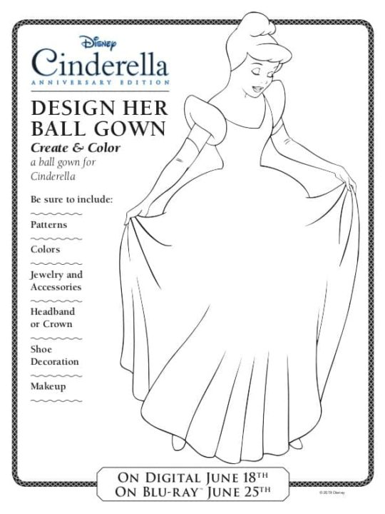 How to design Cinderella ball gown