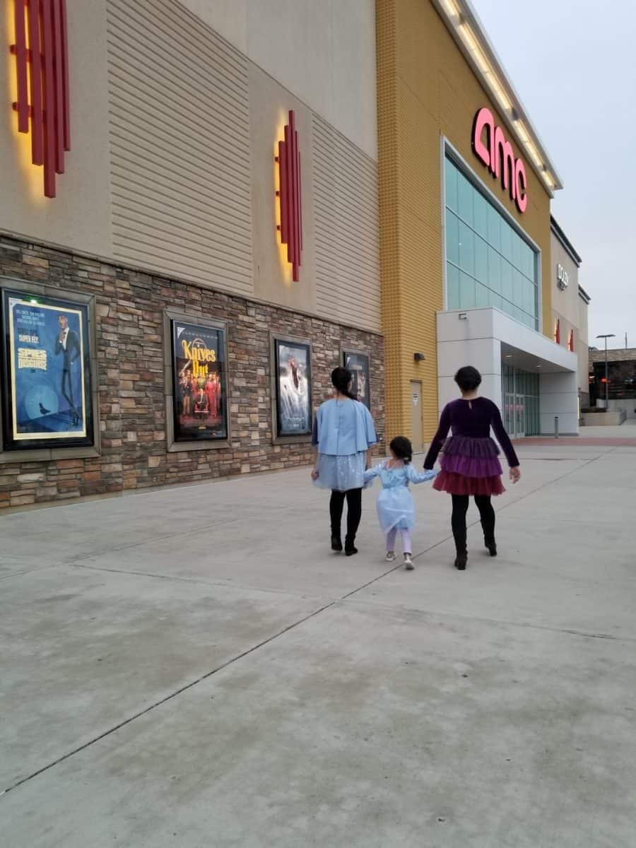 Disney Frozen family night out Anna Elsa sisters Frozen 2