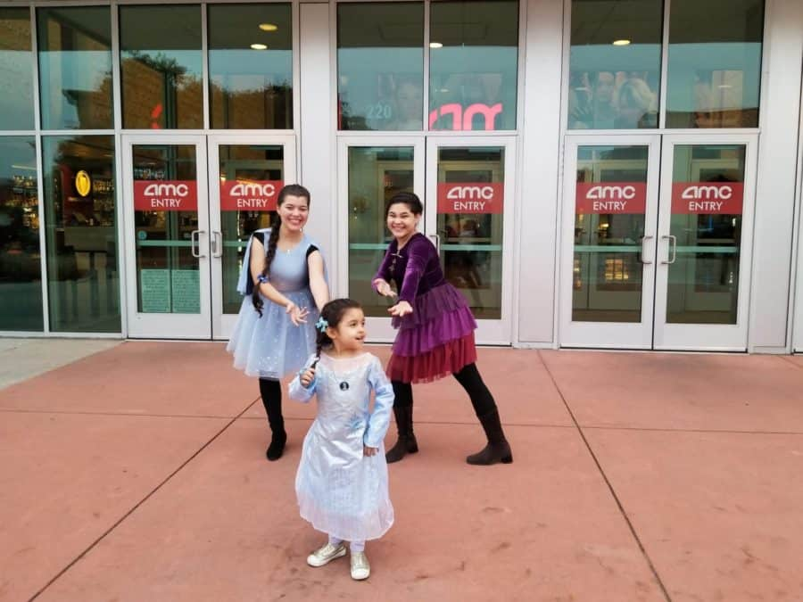 Disney Frozen family night out in theaters Frozen 2