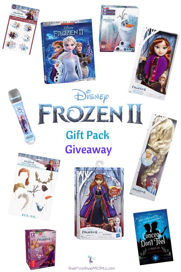 Disney Frozen 2 gift pack giveaway the positive mom
