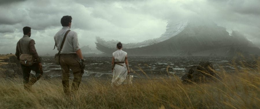 Finn (John Boyega), Poe Dameron (Oscar Isaac) and Rey (Daisy Ridley) in STAR WARS: THE RISE OF SKYWALKER.