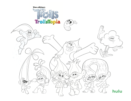 Free TROLLS Coloring Page ~ ☆ Elayna Fernandez ~ The Positive MOM ♥