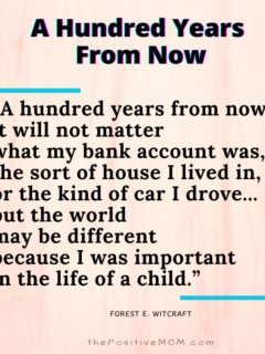 A hundred years from now poem