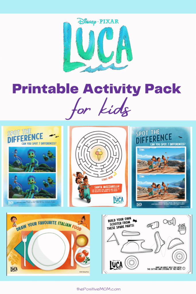 Printable LUCA Activity sheets for kids