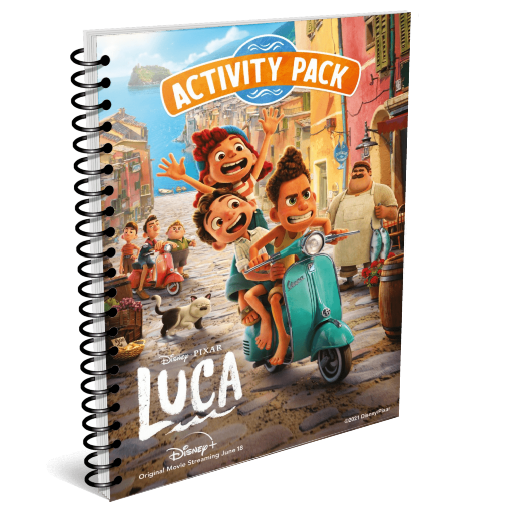FREE Printable LUCA Activity Pack for Kids from Disney Pixar and Disney Plus