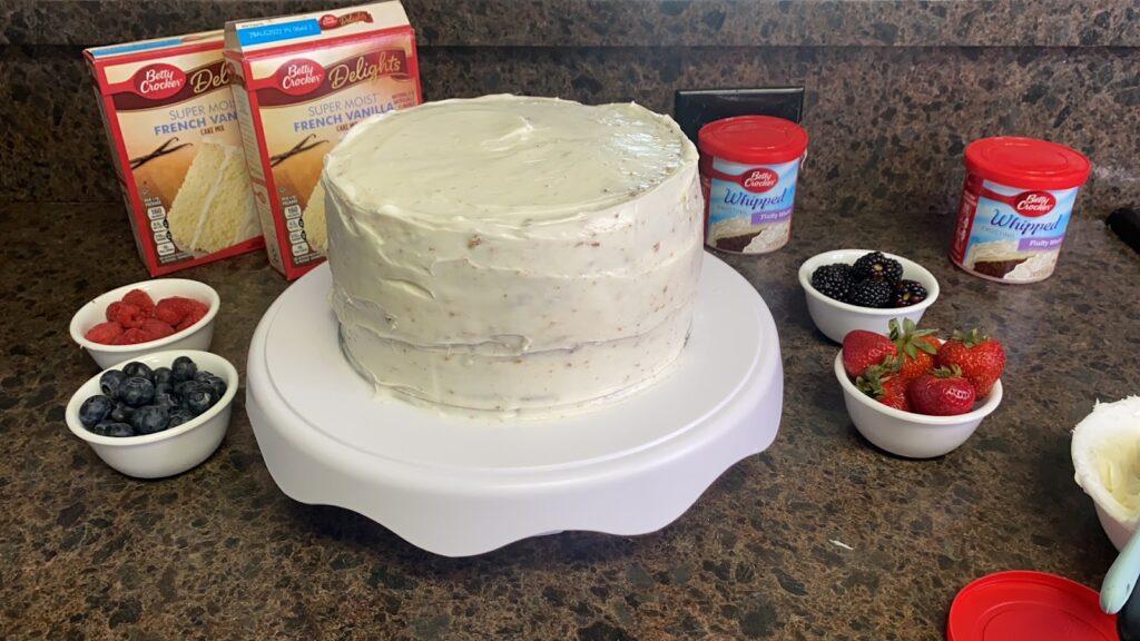 2 layer cake ingredients Betty Crocker